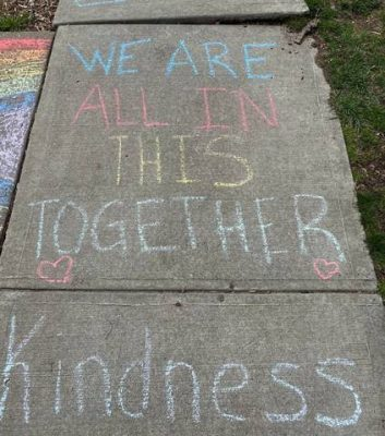 we are all in this together written in chalk